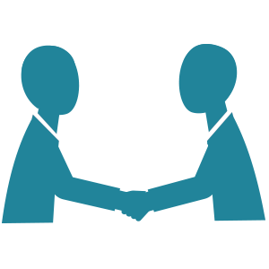 Icon of two people shaking hands