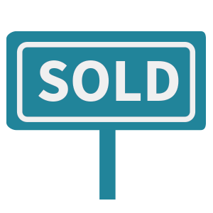 Icon of a sign saying Sold