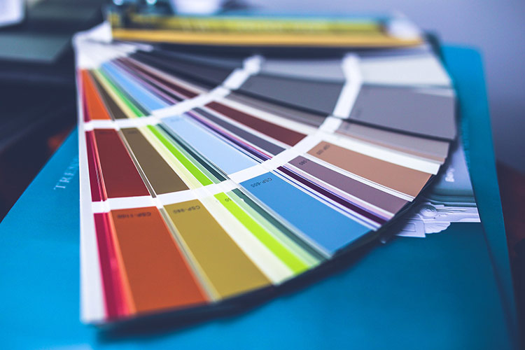 Image of a collection of painting colors for home improvements