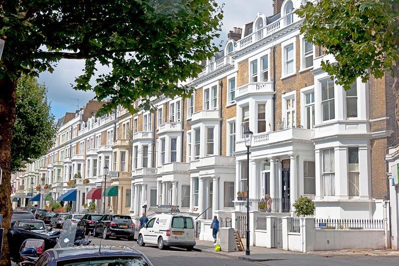 Row of London properties