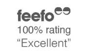 Rated 100% on review website Feefo