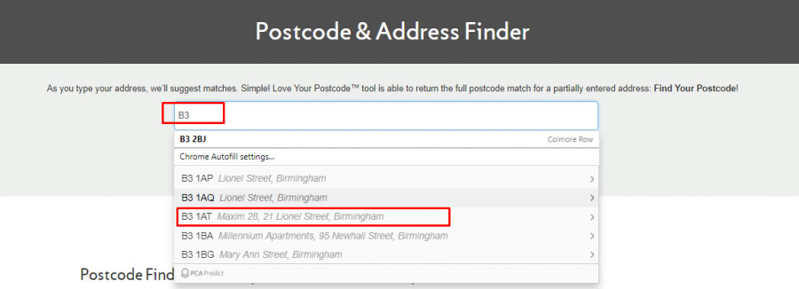 How do I find a postcode in U.K.