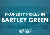 How much does a house cost in Bartley Green?