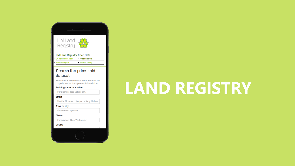 Online property valuation tool by HM Land Registry Open Data